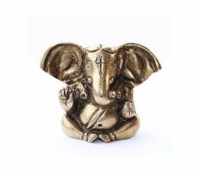Ganesh Ganesha Figur  sitzend Appu aus Messing 4,5  cm